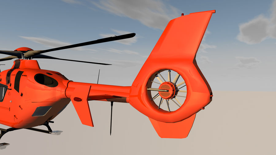 Helicopter With Rotating Blades royalty-free 3d model - Preview no. 34