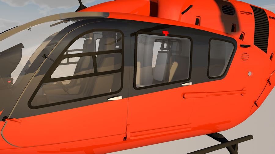 Helicopter With Rotating Blades royalty-free 3d model - Preview no. 17