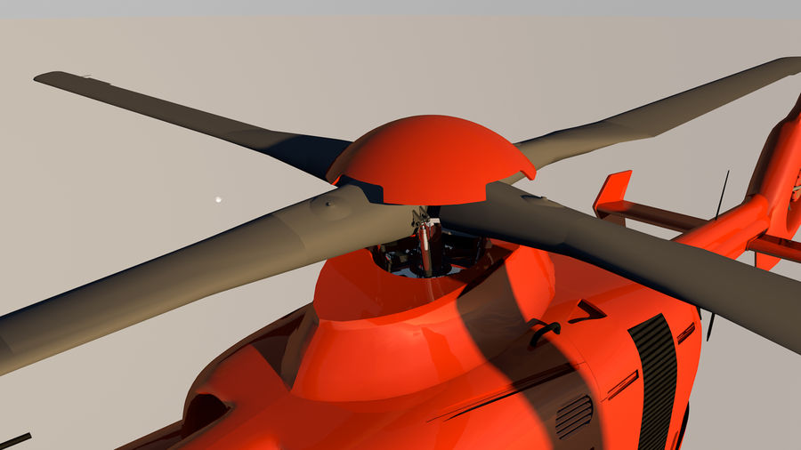 Helicopter With Rotating Blades royalty-free 3d model - Preview no. 36