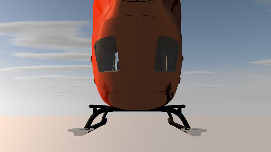 Helicopter With Rotating Blades royalty-free 3d model - Preview no. 30