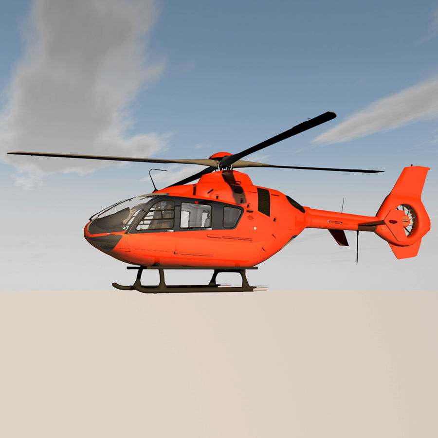 Helicopter With Rotating Blades royalty-free 3d model - Preview no. 1