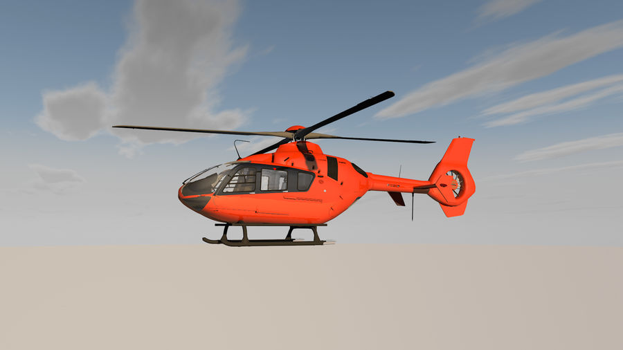 Helicopter With Rotating Blades royalty-free 3d model - Preview no. 2
