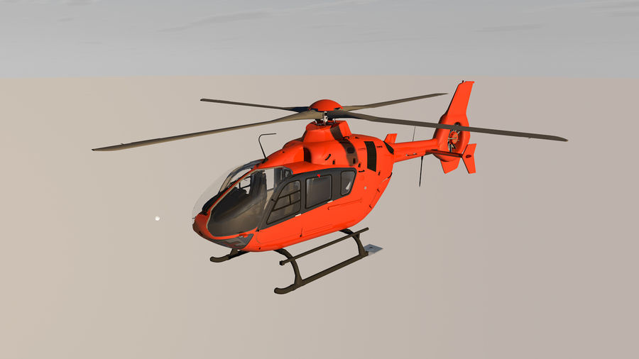 Helicopter With Rotating Blades royalty-free 3d model - Preview no. 5