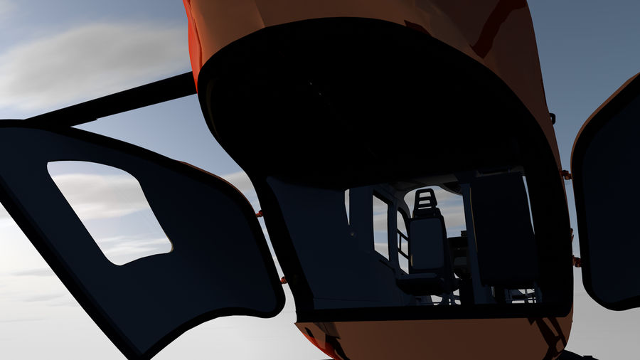Helicopter With Rotating Blades royalty-free 3d model - Preview no. 32