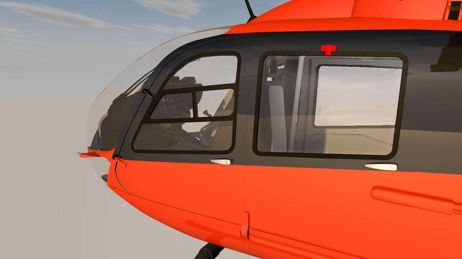 Helicopter With Rotating Blades royalty-free 3d model - Preview no. 15