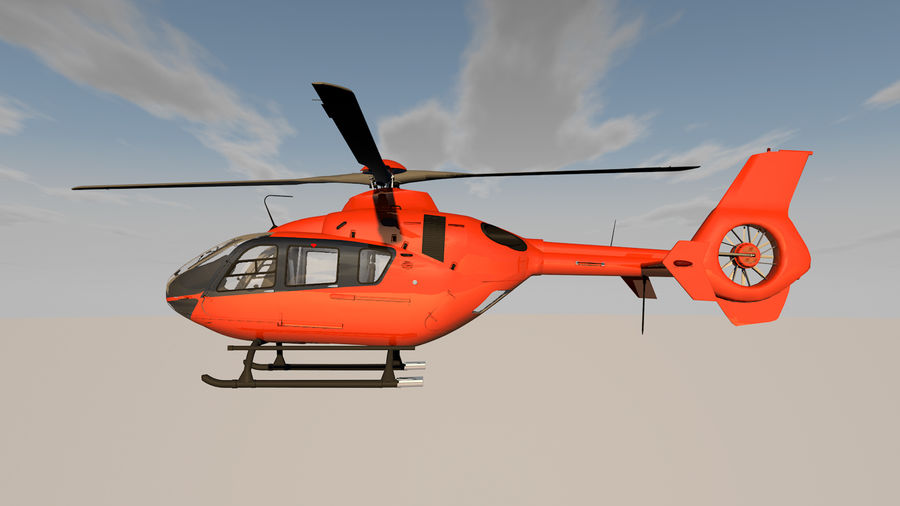 Helicopter With Rotating Blades royalty-free 3d model - Preview no. 11