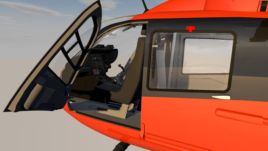 Helicopter With Rotating Blades royalty-free 3d model - Preview no. 16