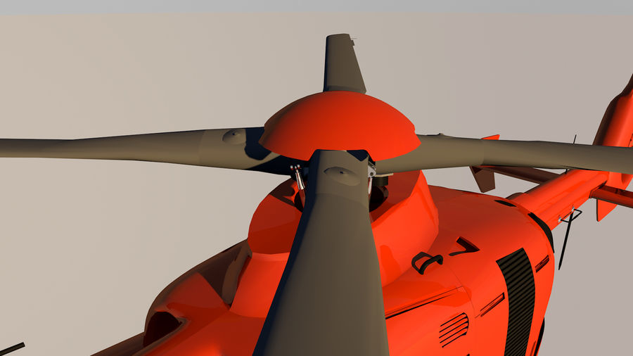 Helicopter With Rotating Blades royalty-free 3d model - Preview no. 37