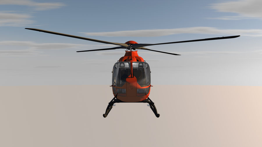 Helicopter With Rotating Blades royalty-free 3d model - Preview no. 7