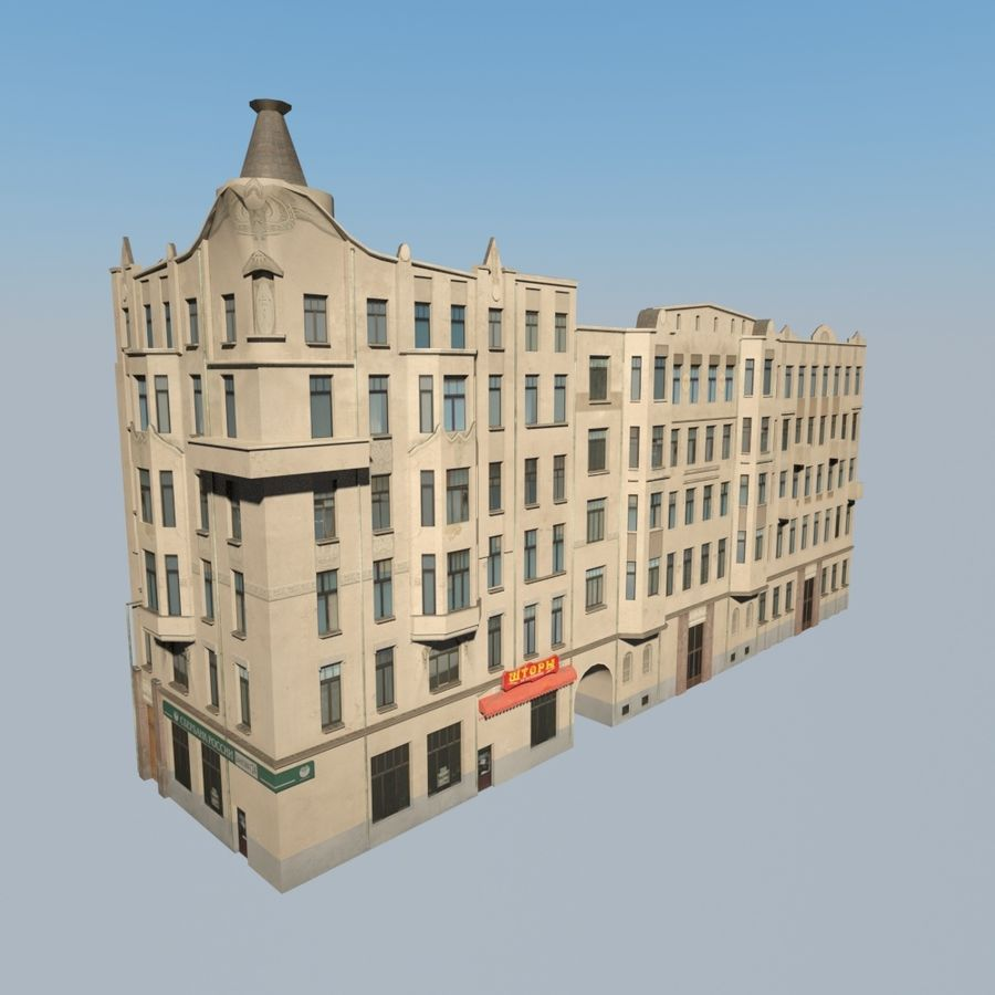 Building royalty-free 3d model - Preview no. 3