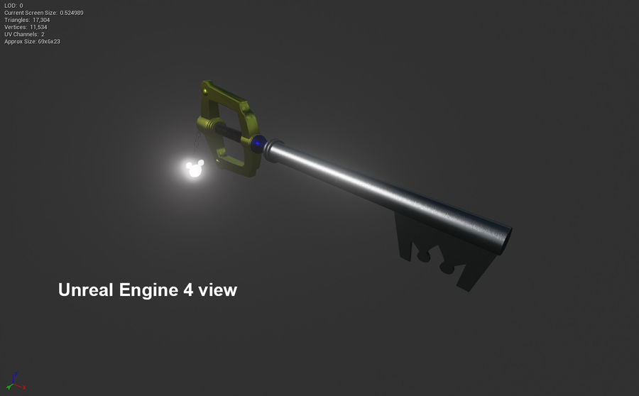 Keyblade royalty-free 3d model - Preview no. 11