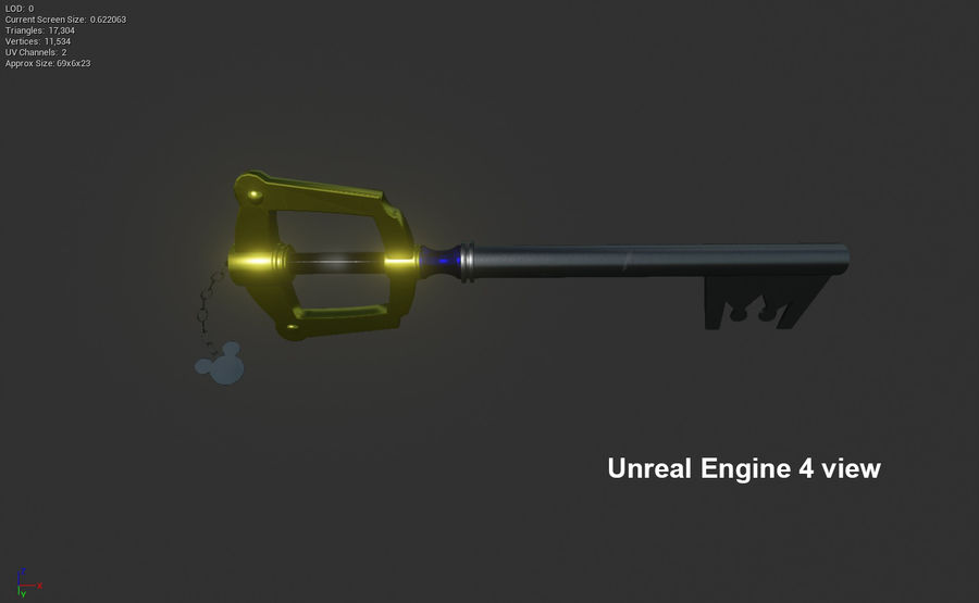 Keyblade royalty-free 3d model - Preview no. 10