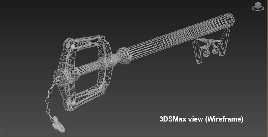Keyblade royalty-free 3d model - Preview no. 6