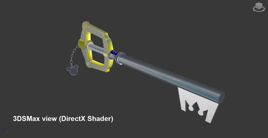 Keyblade royalty-free 3d model - Preview no. 3