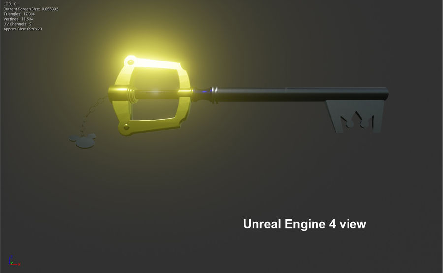 Keyblade royalty-free 3d model - Preview no. 9