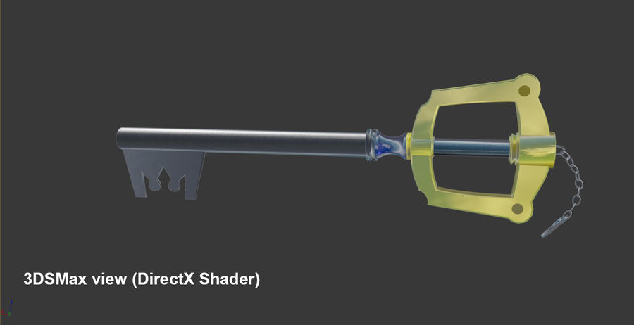 Keyblade royalty-free 3d model - Preview no. 2