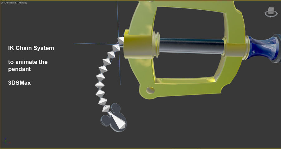 Keyblade royalty-free 3d model - Preview no. 4