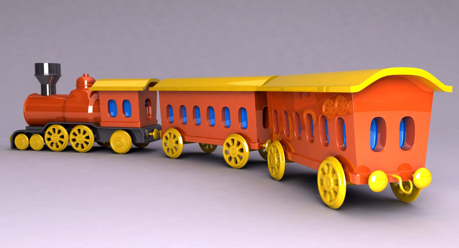 Treno giocattolo royalty-free 3d model - Preview no. 4
