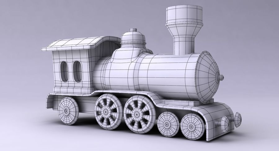 Treno giocattolo royalty-free 3d model - Preview no. 15