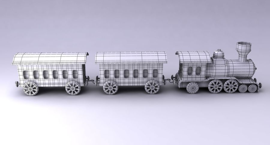 Treno giocattolo royalty-free 3d model - Preview no. 13