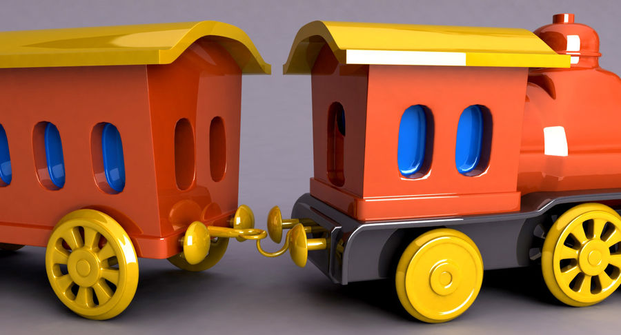 Treno giocattolo royalty-free 3d model - Preview no. 10