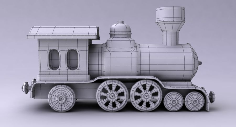 Treno giocattolo royalty-free 3d model - Preview no. 14