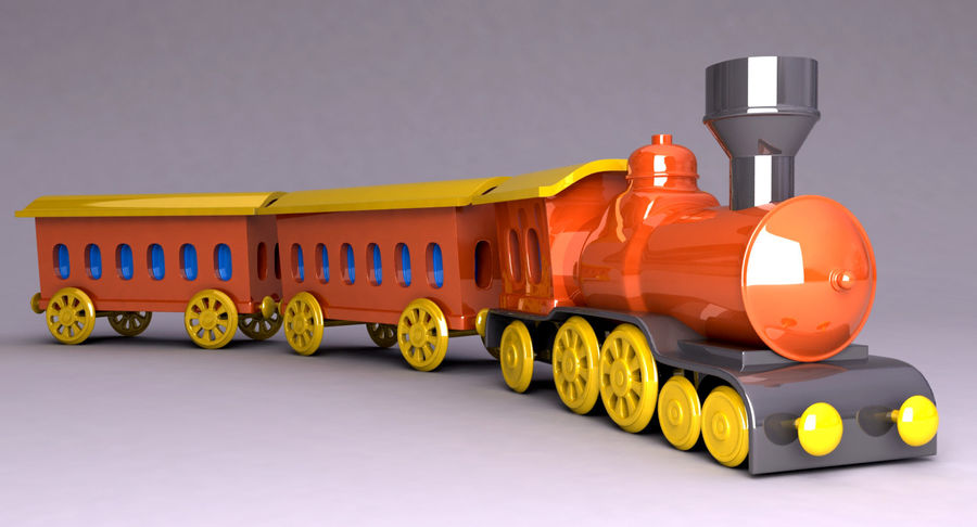 Treno giocattolo royalty-free 3d model - Preview no. 2