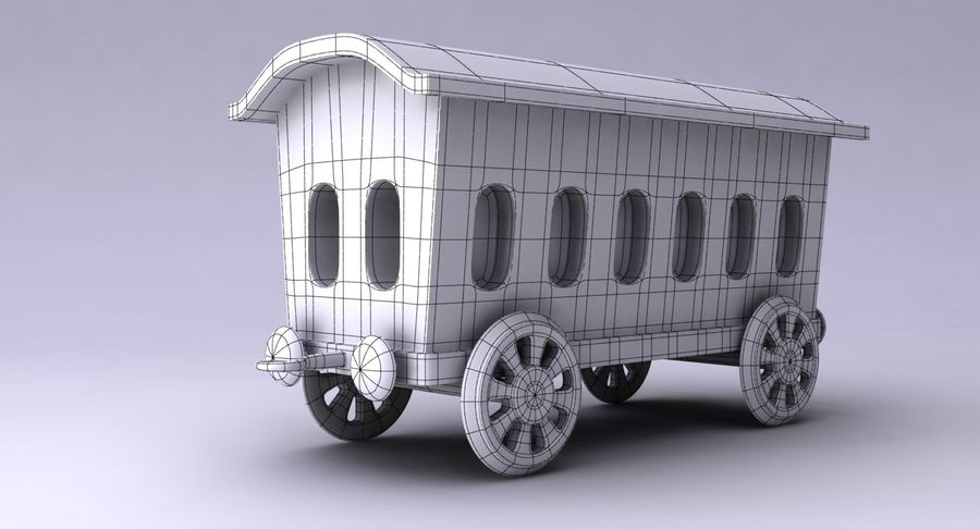 Treno giocattolo royalty-free 3d model - Preview no. 16