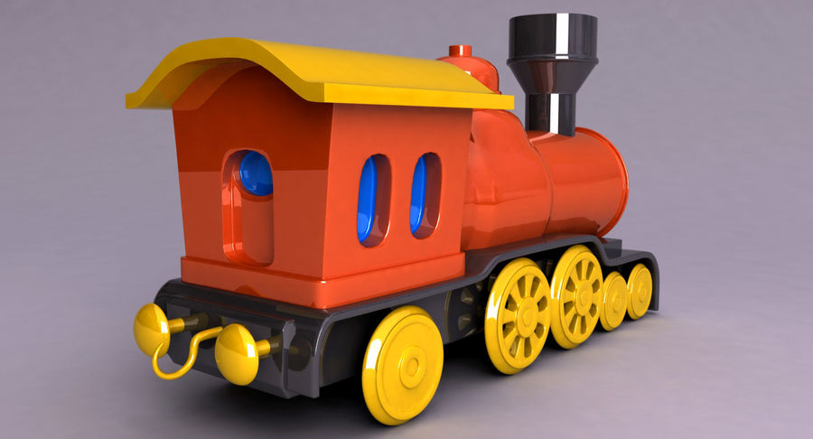 Treno giocattolo royalty-free 3d model - Preview no. 11