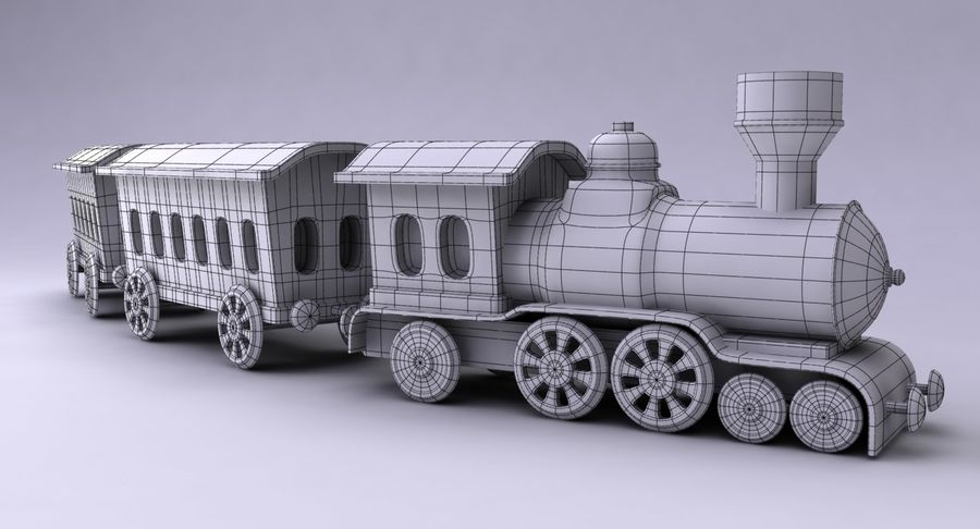Treno giocattolo royalty-free 3d model - Preview no. 12