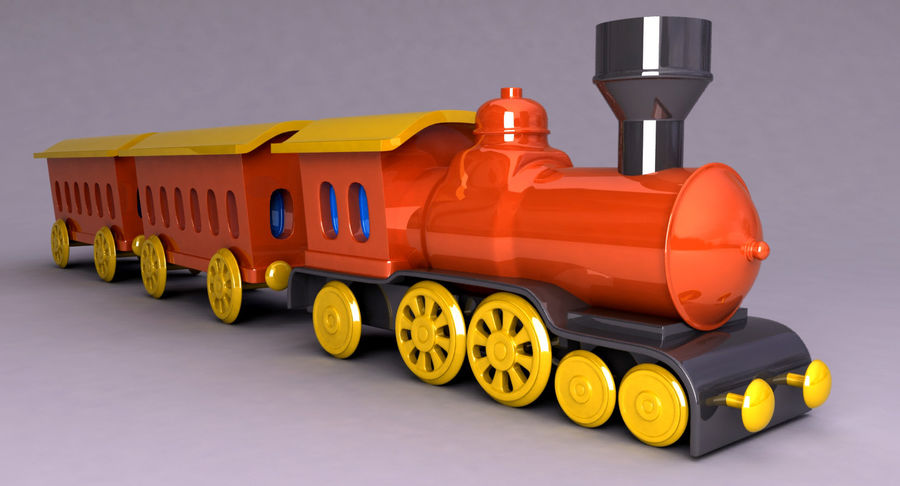 Treno giocattolo royalty-free 3d model - Preview no. 7