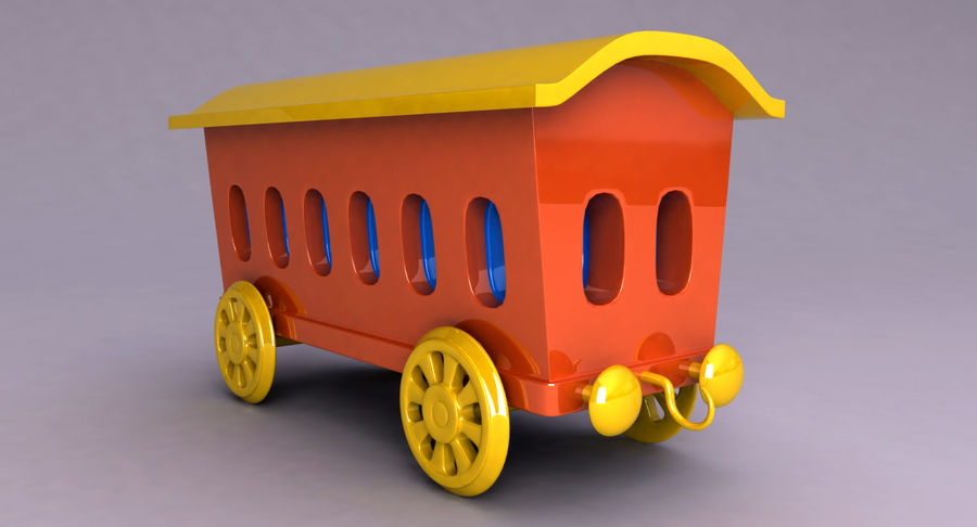 Treno giocattolo royalty-free 3d model - Preview no. 9