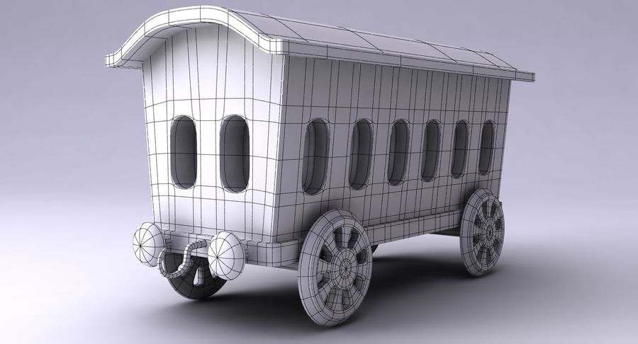 Treno giocattolo royalty-free 3d model - Preview no. 17