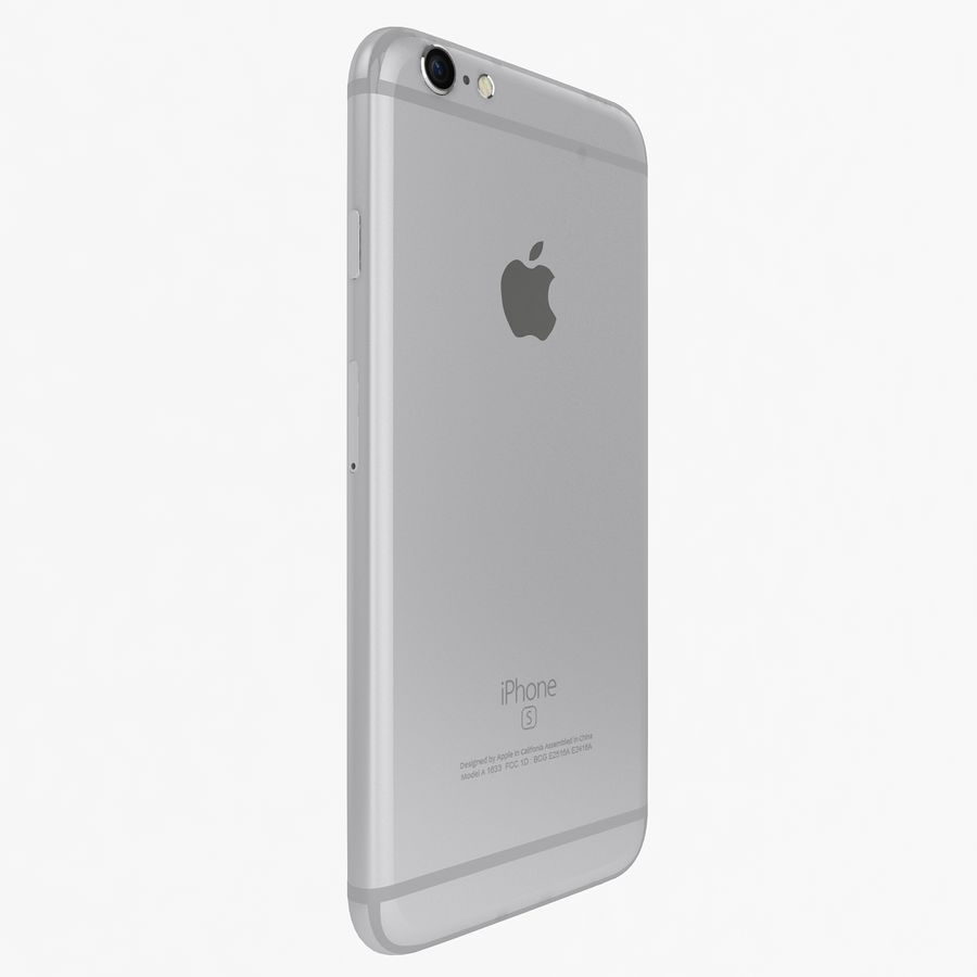 Apple iPhone 6s zilver royalty-free 3d model - Preview no. 4