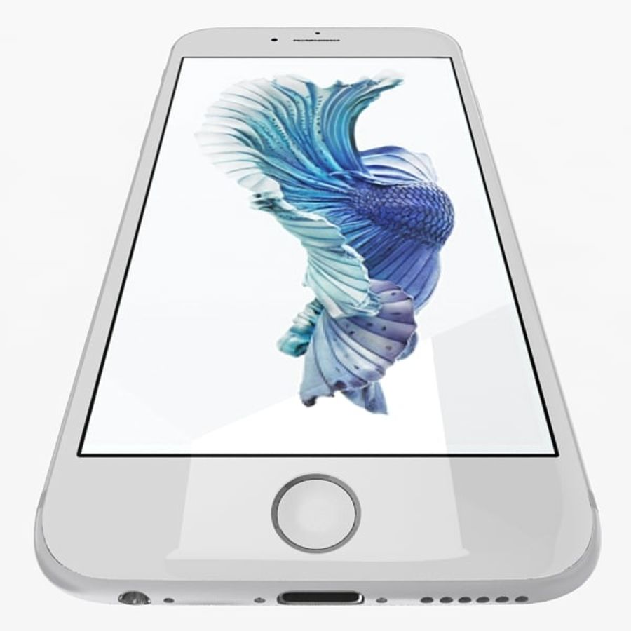 Apple iPhone 6s Silver royalty-free modelo 3d - Preview no. 7