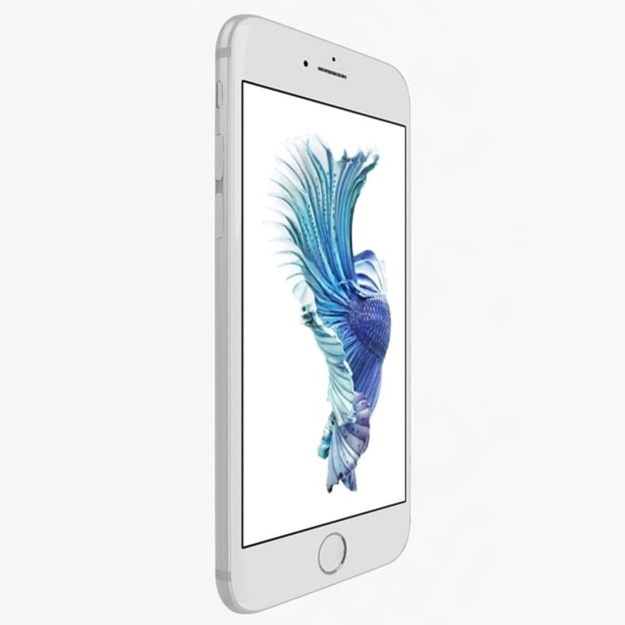 Apple iPhone 6s Silver royalty-free modelo 3d - Preview no. 2