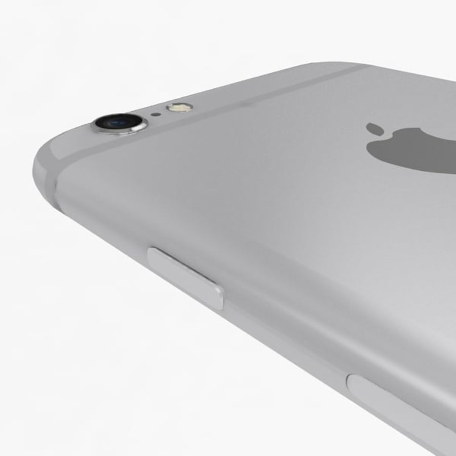 Apple iPhone 6s zilver royalty-free 3d model - Preview no. 10