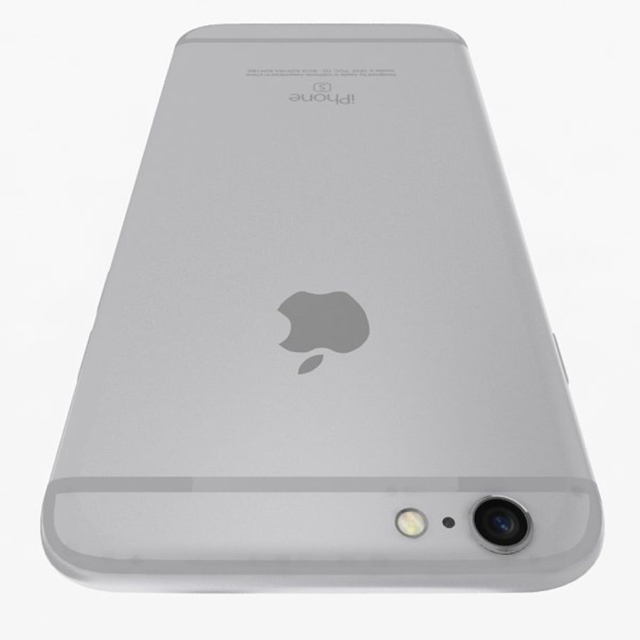 Apple iPhone 6s zilver royalty-free 3d model - Preview no. 6