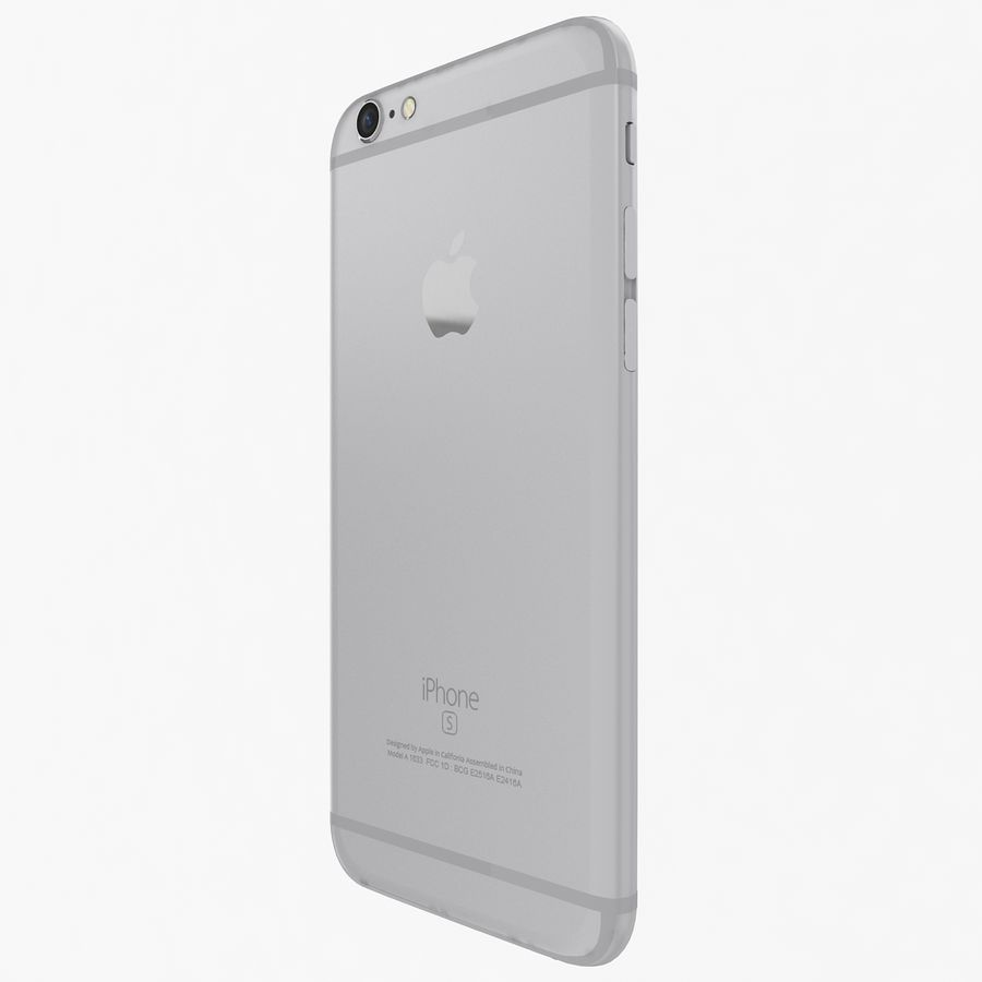 Apple iPhone 6s zilver royalty-free 3d model - Preview no. 5