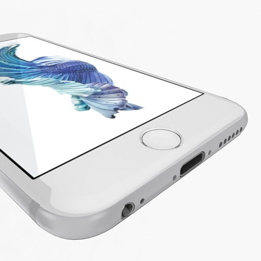 Apple iPhone 6s zilver royalty-free 3d model - Preview no. 8