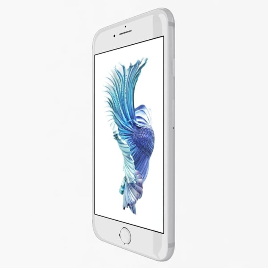 Apple iPhone 6s zilver royalty-free 3d model - Preview no. 3