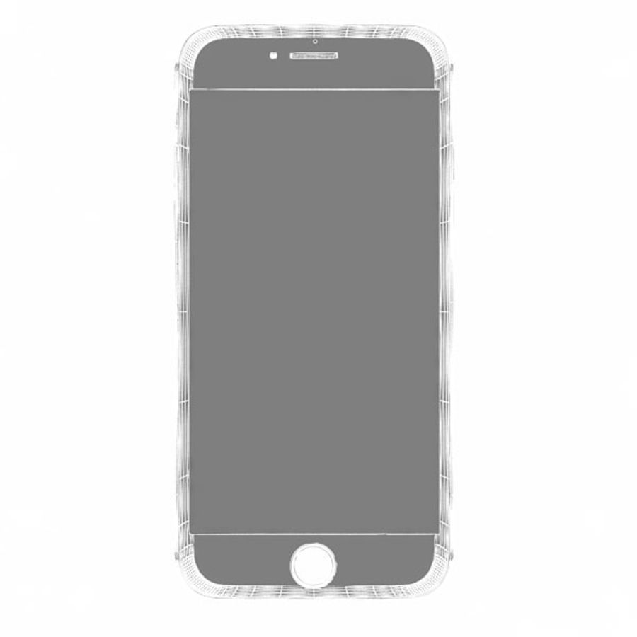 Apple iPhone 6s zilver royalty-free 3d model - Preview no. 11