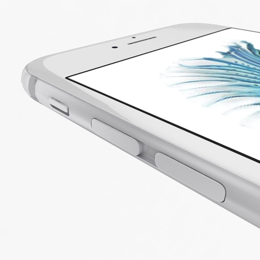 Apple iPhone 6s Silver royalty-free 3d model - Preview no. 9