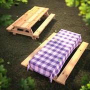Столы для пикника 3d model