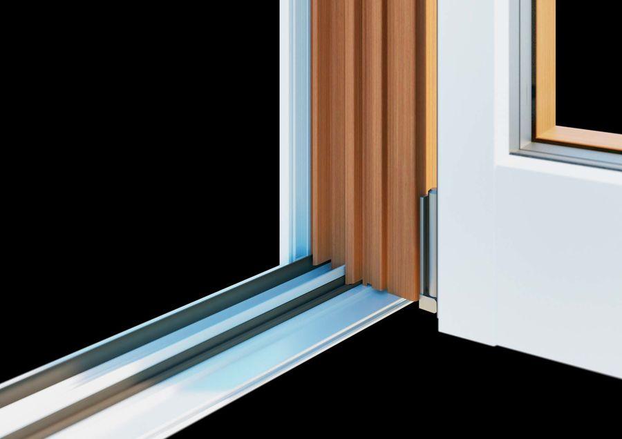 Französische Doppeltür - Doppeltürfenster royalty-free 3d model - Preview no. 3