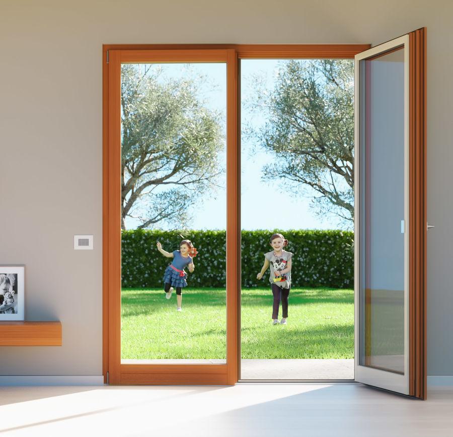 Französische Doppeltür - Doppeltürfenster royalty-free 3d model - Preview no. 1