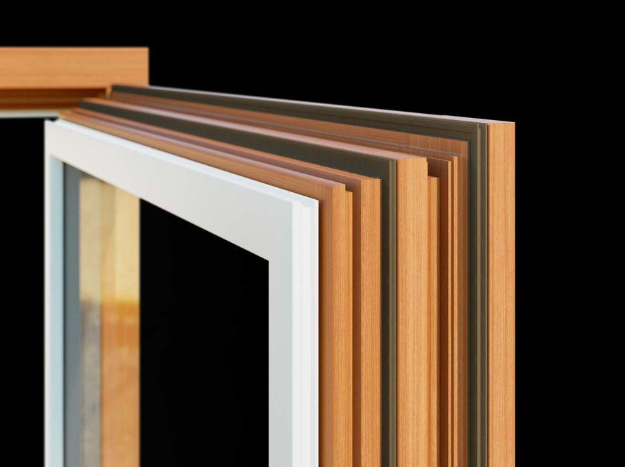 Französische Doppeltür - Doppeltürfenster royalty-free 3d model - Preview no. 4