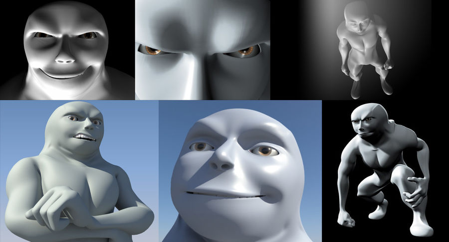 Animowane postacie z kreskówek royalty-free 3d model - Preview no. 6
