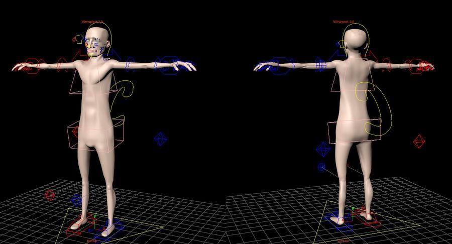 Animowane postacie z kreskówek royalty-free 3d model - Preview no. 10