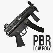 MP5K Low Poly 3d model